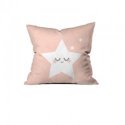 Sevimli Uyuyan Yıldız Pembe Kırlent