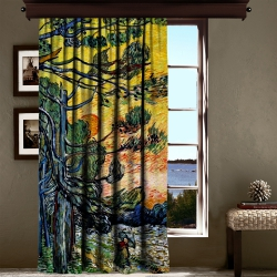 Vincent Van Gogh - Palmiye Ağaçları Tek Kanat Fon Perde