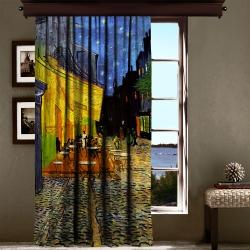 Vincent Van Gogh - Teras Kafe Tek Kanat Fon Perde