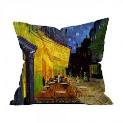 Vincent Van Gogh - Teras Kafe 1 Kırlent