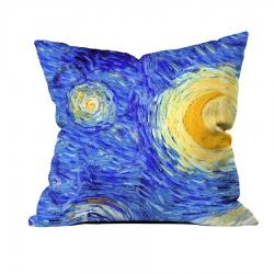 Vincent Van Gogh - Yıldızlı Gece 1 Kırlent
