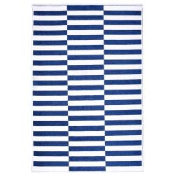 Mavi Beyaz Çift Taraflı Yıkanabilir Halı 11017-J