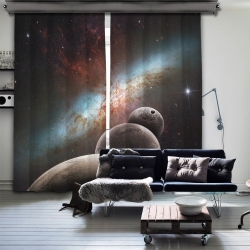 Simetrik Gezegenler  Blackout İki Kanat Fon Perde