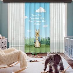 Peter Rabbit Tek Kanat Fon Perde
