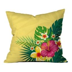 Sarı Mint Yeşili Yaz Çiçekleri Kırlent 1