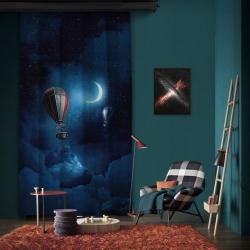 Ay Işığı ve Balonlar Tek Kanat Fon Perde